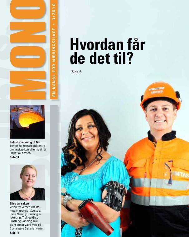 The magazine MONO for the Rana Chamber of commerce